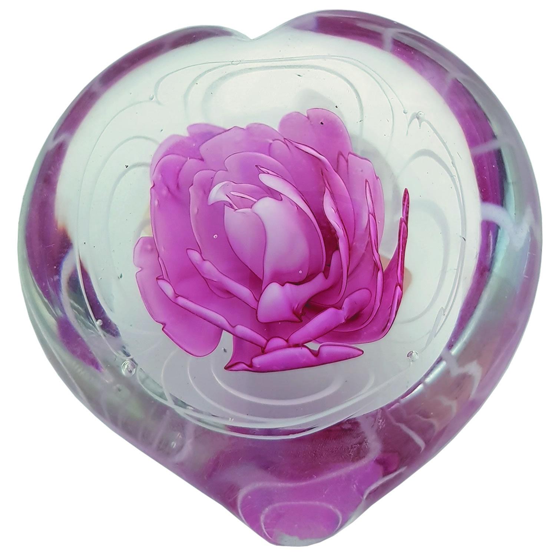 Pws874 heart pink flower paperweight kenjasper roses glass pws874 heart pink flower paperweight kenjasper roses glass paper weights kenjasper pws874 heart pink flower paperweight mightylinksfo