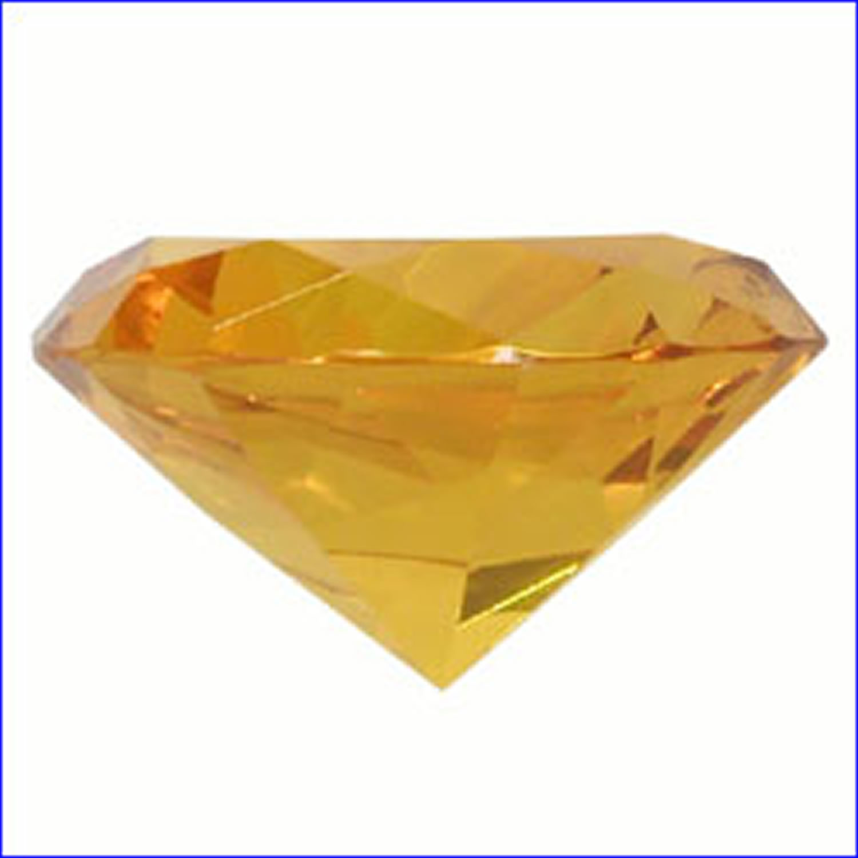 4CM AMBER DIAMOND, KENJASPER, 4CM, LEAD CRYSTAL/CUT GLASS ...