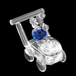 CF4015B Bear in Pram - Blue