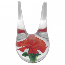 Double Ring Holder - Red Rose