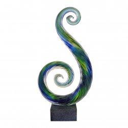 Abstract Glass Statue - Serene Swan