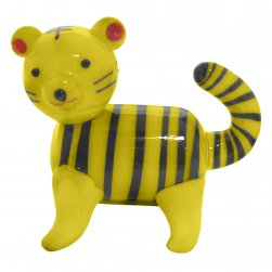 Glass Tiger - Yellow with Black Stripes