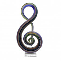 Glass Statue Abstract - Musical Dreams