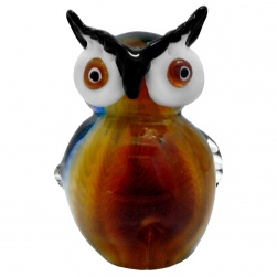Coloured Glass Owl