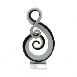 Abstract Glass Statue - Musical Note