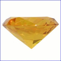 Box of 2cm x 2cm x 1.2cm Amber Diamond