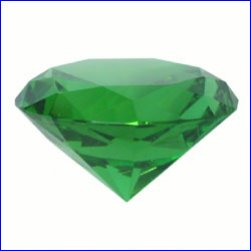 Box of 2cm x 2cm x 1.2cm Green Diamonds