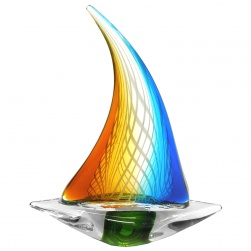 Abstract Art Glass Yacht