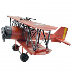 EB-74222 Vintage Biplane Spit Fire - Red