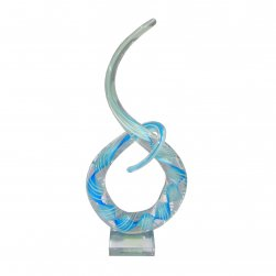 Blue Glass Abstract Sculpture