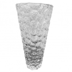 Crystal Cut Vase with Bubbles Design