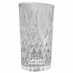 GCDC-GS140 Crystal Cut Square Highball Set of 6