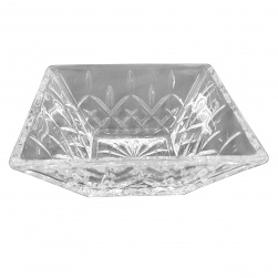 GCDC-B117 Crystal Cut Square Serving Bowl Set of 6