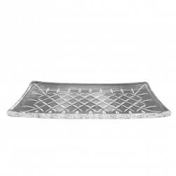 GCDC-P280 Crystal Cut Rectangular Serving Plate (S)