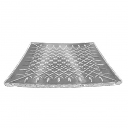 GCDC-P278 Crystal Cut Square Serving Plate (L)