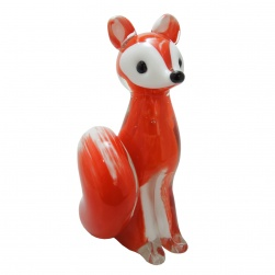 Red Fox Glass Figurine