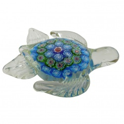 Millefiori Turtle Glass Figurine