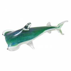 Blue and Green Glass Hammerhead Shark