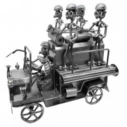 Fire Engine and Firefighters Figurine