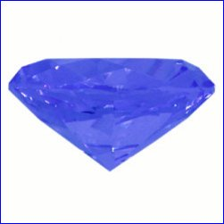 Box of 2cm x 2cm x 1.2cm Diamond Blue