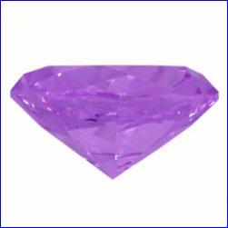 Box of 2cm x 2cm x 1.2cm Lilac Diamond